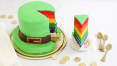 Lucky Charms turns 50 this year! Find out how to create a bright, cheery rainbow cereal-treat cake with this simple tutorial.