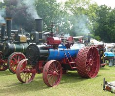 Steam traction engine built by the Advance Thresher Co.