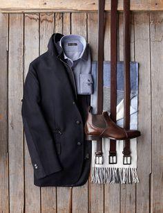 Corneliani ID Hybrid Jacket - $1698 Corneliani Knit Shirt - $298 Corneliani Cashmere Scarf - $150 Giulio Moretti Leather Boots - $425 Various Belts - $88-148