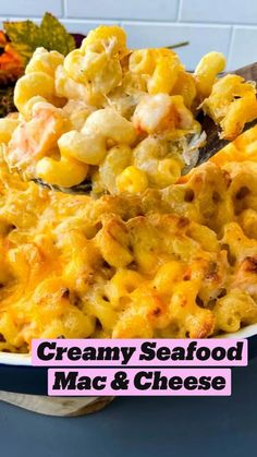 Seafood Mac And Cheese, Best Macaroni And Cheese, Seafood Dishes, Pasta Dishes, Seafood Recipes, Macaroni Pie, Cheese Recipes, Entree Recipes, Side Recipes
