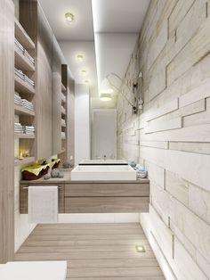Salle de bains grand miroir