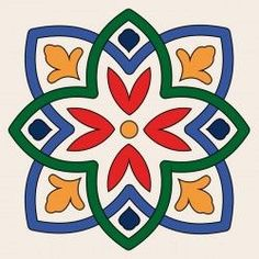 W1600275 Islamic Art Pattern, Pattern Art, Pattern Design, Tile Design, Ceramic Tile Art, Ceramic Painting, Mandala Design, Mandala Art, Mexican Art