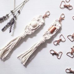 New key chains in the shop! Now you can carry some bohemian style with you wherever you go - put them on your key ring or your favorite leather bag! We love these.
