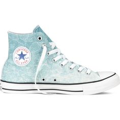 Converse Chuck Taylor All Star Santa Monica Sneakers ($65) ❤ liked on  Polyvore featuring. Converse TrainersConverse ShoesShoes SneakersBlue ...