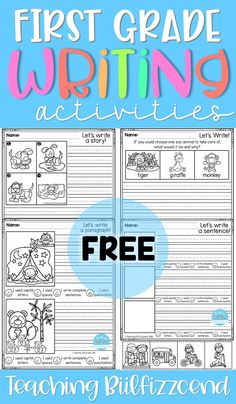 FREE, Fun, creative narrative writing prompts for your first grade, second grade, and kindergarten students to build confidence in writing.