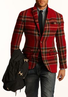 Ralph Lauren F/W 2014 Menswear- I have two chairs upholstered in this same RL fabric!