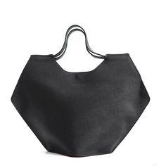 Black Leather Yuval Tote Bag