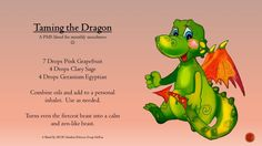 Taming the Dragon #PMS essential oil blend for diffuser or inhaler