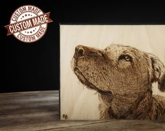Custom Pet Portrait [SALE] | Woodburned Sign | Pyrography Art