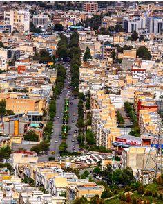 Beautiful Shot of Sinê City, the capital of the Province Kurdistan, Iran.