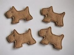 Adorable Puppy Dogs Felt Pieces Machine Embroidered for Hair Clips Bows Applique Embellishments. $3.20, via Etsy.