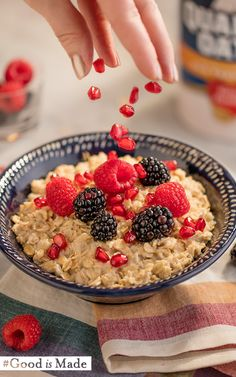 Add a little color to your morning and your oatmeal. #GoodIsMade