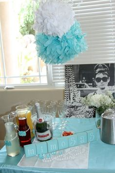 Mimosa bar at breakfast at tiffany brunch