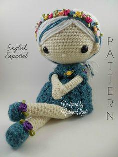 Azul - Amigurumi Doll Crochet Pattern PDF by CarmenRent on Etsy https://www.etsy.com/listing/255126903/azul-amigurumi-doll-crochet-pattern-pdf