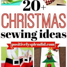 Sewing Gifts For Kids Christmas Sewing Ideas - 20 great projects to make for the holidays! - This list of more than 20 Christmas sewing projects to make contains so many fantastic ideas for sewers of any skill level! Craft Tutorials, Sewing Tutorials, Sewing Crafts, Sewing Ideas, Sewing Designs, Sewing Diy, Craft Ideas, Diy Crafts, Christmas Sewing Projects