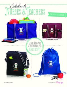 Attention all NURSES and TEACHERS!   How cute are these?!?!  http://www.mythirtyone.com/sarahdillon