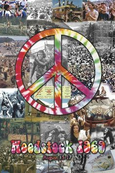 August 15th - 17th  1969 Woodstock . This  started on my Bd.. was to young to go  but oh so remember hearing about it on the news.. and yep we wore peace signs, hippy beads and bell bottoms and tye dye shirts.. those were the good years,  wish was back to them now !!!