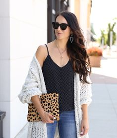 blogger Anna Monteiro of Blushing Rose Style wearing Free People Saturday Morning cardigan from Nordstrom in fall wardrobe update