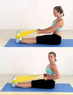 18 Best Resistance Band Exercises For Body Toning & Fitness – Yoga Center Best Resistance Bands, Resistance Band Exercises, Body Exercises, Stretch Band Exercises, Elastic Band Exercise, Workout Bauch, Muscular, Transformation Body, No Equipment Workout
