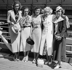 Photographed is the Womens Swimming Team as they sailed July 15, 1936 on the Manhattan for Berlin and the Olympic Games.
