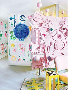 Living room of artist/designer Doug Meyer.