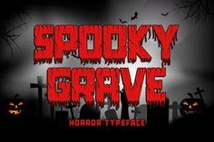 Spooky Grave #halloween #scream #scary Halloween Fonts, Halloween Design, Halloween Themes, Halloween Crafts, Advertising Logo, Cricut Fonts, Game App, Glyphs
