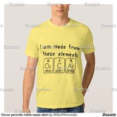 Oscar periodic table name shirt