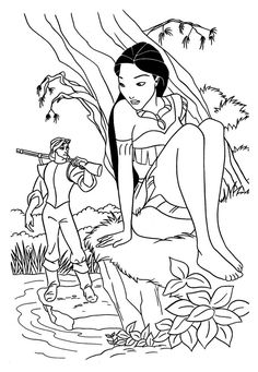Disney Love Coloring Pages Inspirational Pocahontas Fall In Love Coloring Pages for Kids Printable Belle Coloring Pages, Online Coloring Pages, Coloring Pages For Girls, Cartoon Coloring Pages, Coloring Book Pages, Printable Coloring Pages, Free Coloring, Kids Coloring, Colouring