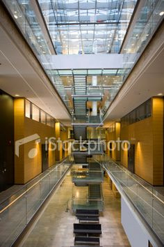 Atrium in an office building Royalty Free Stock Photo
