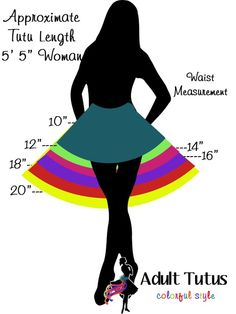 Approx tutu measurement chart