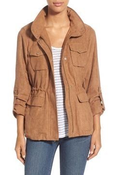 Vince Camuto Faux Suede Hooded Jacket available at #Nordstrom
