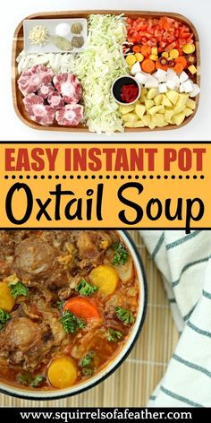 OMG, best oxtail soup EVER! My family chowed down this Instant Pot oxtail soup -… OMG, best oxtail soup EVER! My family chowed down this Instant Pot oxtail soup — so easy! Oxtail Recipes Easy, Easy Pressure Cooker Recipes, Beef Recipes, Soup Recipes, Cooking Recipes, Curry Recipes, Family Recipes, Slow Cooker, Instant Pot Oxtail Recipe