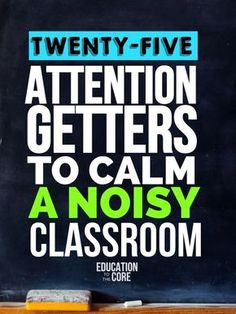 25 Attention Getters to Calm A Noisy Classroom 25 of the best ideas attention getters for primary and middle school classroom teachers. The post 25 Attention Getters to Calm A Noisy Classroom appeared first on School Ideas. Classroom Management Strategies, Teaching Strategies, Teaching Tips, Behaviour Management, Student Teaching, Teaching Art, Classroom Management Primary, Middle School Management, Middle School Classroom