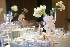 white flower centerpiece