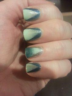 my nail art.Gradient nails