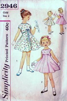 Simplicity 2946 A – Paula Hubbard Simplicity 2946 A Outfits I used to wear – AG doll sewing inspiration Vintage Kids Clothes, Vintage Girls, Vintage Children, Vintage Outfits, Vintage Fashion, Vintage Ideas, Sewing Patterns Girls, Vintage Dress Patterns, Doll Clothes Patterns