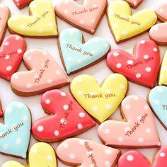 simple & pretty color polka dots sugar cookies