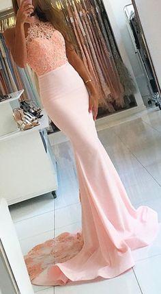 Open Back Prom Dresses, Prom Dresses For Cheap, Prom Dresses Lace, Pink Prom Dresses, Mermaid Prom Dresses Prom Dresses 2019 Mermaid Prom Dresses Lace, Pink Prom Dresses, Backless Prom Dresses, Cheap Prom Dresses, Dress Prom, Lace Mermaid, Prom Gowns, Party Dresses, Satin Dresses