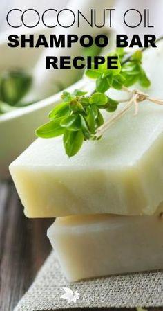 Coconut Oil Shampoo Bar Recipe - #allnatural #coconutoil #shampoo #health #DIY by leila