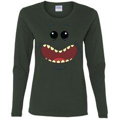 morty and rick Mr. Meeseeks-01 G540L Gildan Ladies' Cotton LS T-Shirt