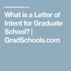 Letter Of Intent Template Graduate SchoolLetter Of Intent
