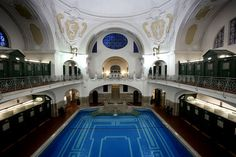 Volksbad in Munich, without a doubt the most beautiful public swimming pool I've ever had the pleasure to swim in.