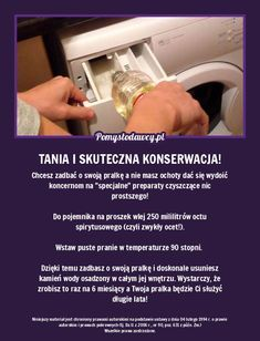 WLEJ TO DO PRALKI ZAMIAST PŁYNU DO PŁUKANIA I WŁĄCZ NA 90 STOPNI... Kitchen Organisation, Simple Life Hacks, Diy Cleaners, Home Hacks, Clever Diy, Good Advice, Clean House, Housekeeping, Good To Know