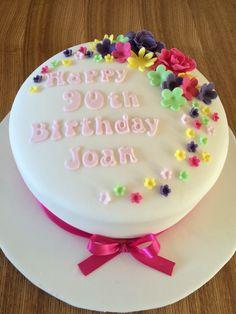 90th Birthday Cake My Cakes Pinterest 90 birthday Birthday