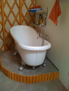 Bath in a YURT home