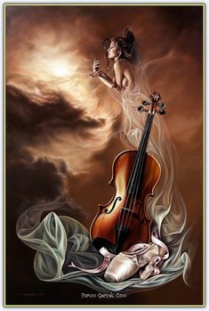 ImageShack - Best place for all of your image hosting and image sharing needs Music Painting, Art Music, Art Sketches, Art Drawings, Violin Art, Beautiful Paintings, Female Art, Art Pictures, Fantasy Art