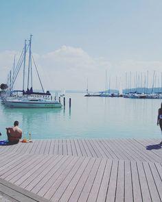 #balaton #lake #balatonfüred #running #sailboat #port#beautifulday by wagnerpetra May 1, Sailboat, Hungary, Budapest, Photo Ideas, Sailing, Running, Lady, Outdoor Decor