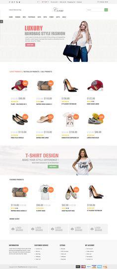 Corau - Fashion Responsive OpenCart Theme #cms #opencart Live Preview & Download: http://themeforest.net/item/corau-fashion-responsive-opencart-theme/9643791?ref=ksioks