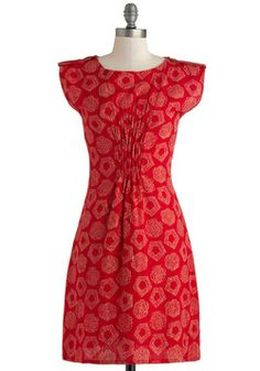 Journey Through Momentos Dress in Brick, #ModCloth