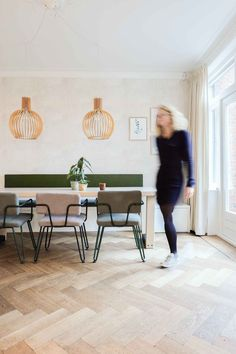 A look inside a house in Zwolle - Huisgeluk - A look inside a house in Zwolle – Huisgeluk - 1930s House, Narrow House, Scandinavian Living, Living Room Flooring, Home Fashion, Diy Crafts To Sell, Home And Living, Interior Inspiration, Home Goods